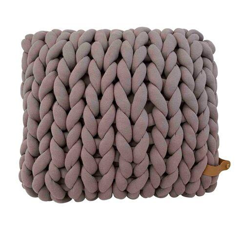 adorist. XXL Grobstrick Kissen Cotton Tube, 45x40x10cm
