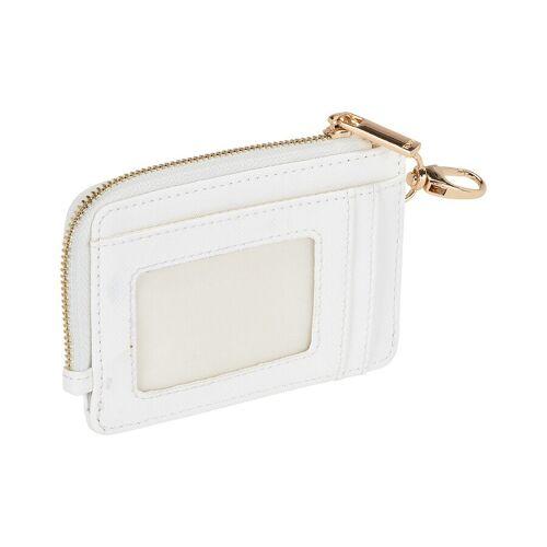 TOSH Kartenhalter Mini-Portemonnaie mit Kleingeld-Fach weiß Geldbörse