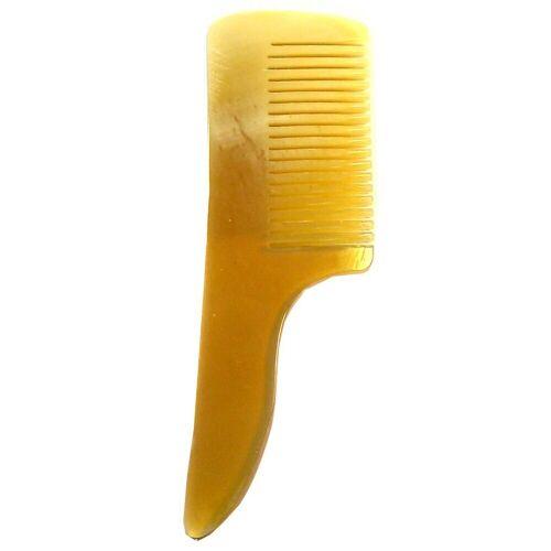 Golddachs Bartkamm Horn 8 cm mit Griff