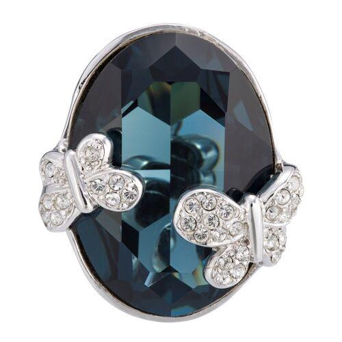 Pippa&Jean Ring Schmetterling Messing verziert mit Kristallen von Swarovski®