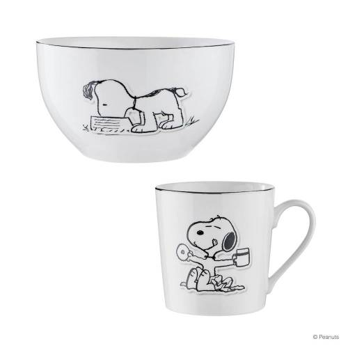 BUTLERS PEANUTS Geschirr-Set 4-tlg. Snoopy Eating, Donut & Coffee