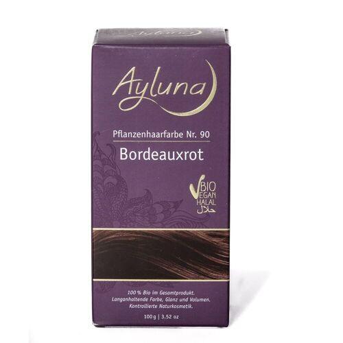 Ayluna Naturkosmetik Haarfarbe - Nr.90 Bordeauxrot 100g Damen