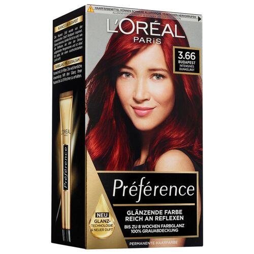 L´Oréal Paris Nr. 3.66 - Intensives Dunkelrot Haarfarbe