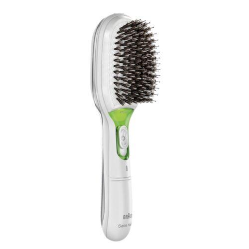 Braun Satin Hair 7 Elektrische Haarbürste mit Naturborsten BR750 weiss