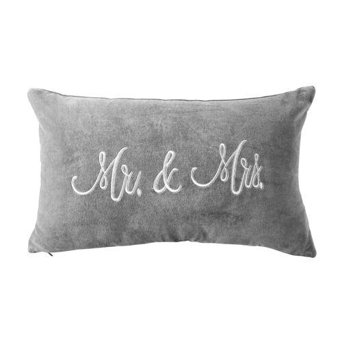 BUTLERS MR. & MRS. Kissen Samt Mr. & Mrs. L 50 x B 30cm