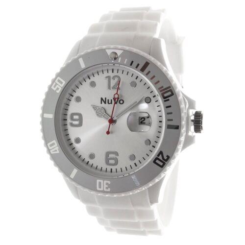 Nuvo Stylische Unisex Armbanduhr mit drehbarer Lünette