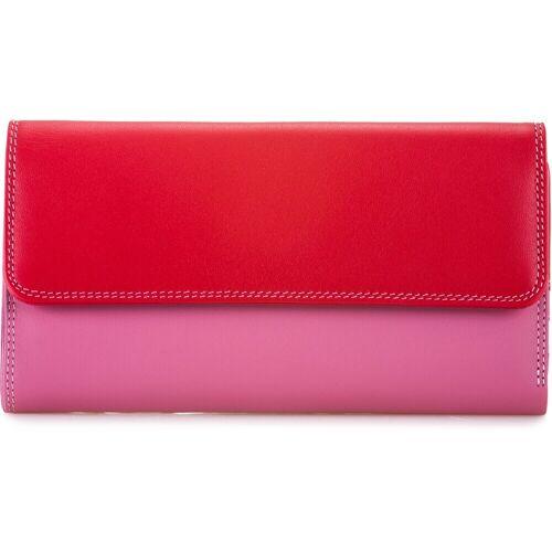 Mywalit Mywalit Tri-fold Zip Wallet Geldbörse Leder 17 cm Damen  Rot