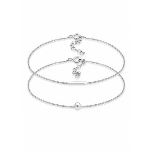 Elli Elli Armband 2er Set Geo Symbole Basic Stab Ball 925 Silber