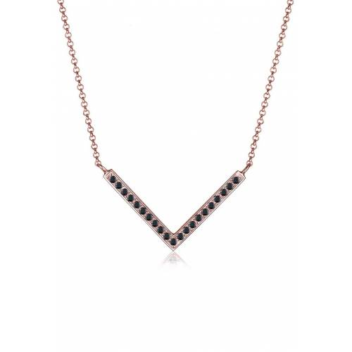 Elli Elli Halskette V-Kette Kristalle 925 Silber Damen