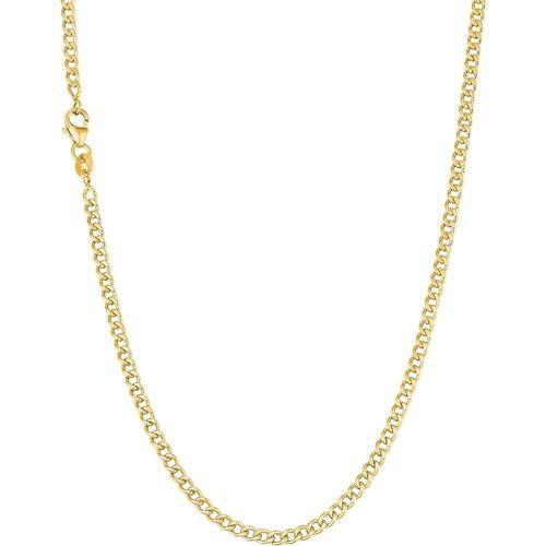 amor amor Halskette für Damen, Gold 375 Damen  Weiss