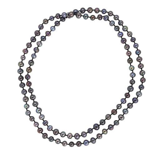 Pippa&Jean Halskette Süßwasser-Zuchtperlen schwarz Pippa&Jean Perlenhalskette Halskette Süßwasser-Zuchtperlen schwarz Pippa&Jean Perlenhalskette Damen