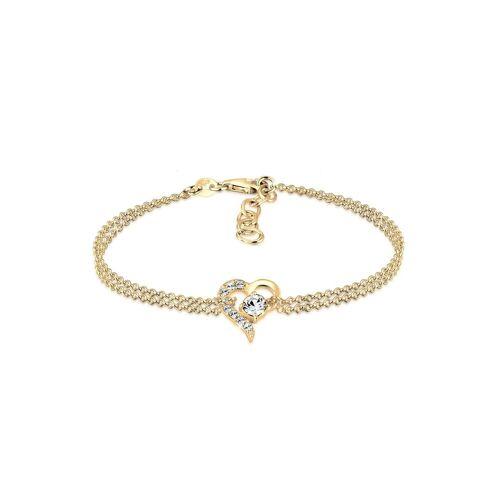 Elli Elli Armband Herz Liebe Kristalle 925 Silber