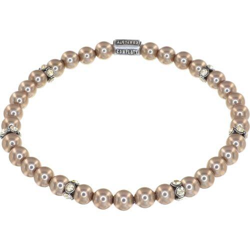 KONPLOTT Konplott Damen-Armband Pearl Shadow Messing Beige/Silber Beige/Silber 32013024