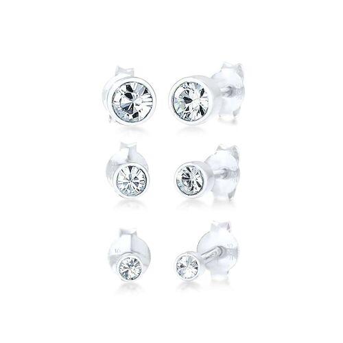 Elli Elli Ohrringe Stecker Set Kristalle Basic 925 Silber
