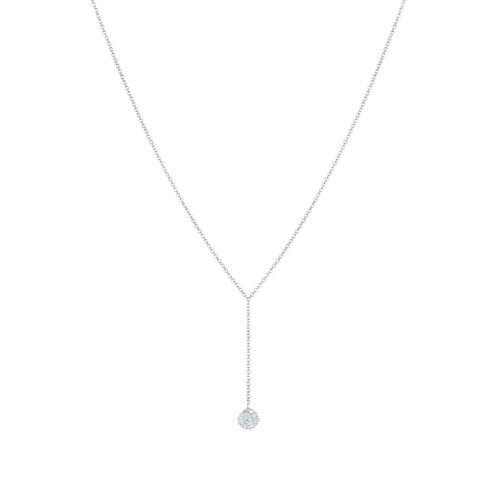 Elli Elli Halskette Y-Kette Kugel Kristalle 925 Silber