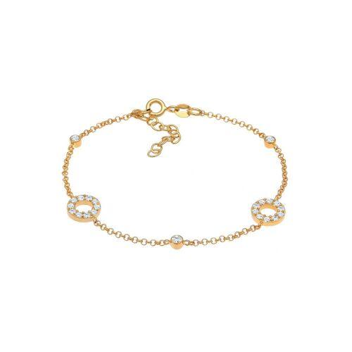 Elli Elli Armband Kristalle Kreise Vintage 925 Silber Damen