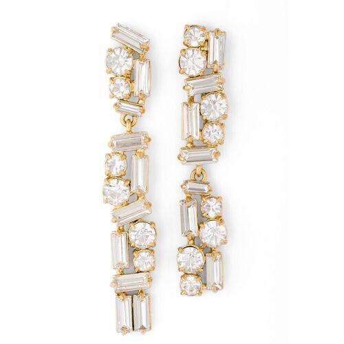 Pippa&Jean Ohrhänger  Metall Glaskristalle   gelbgold