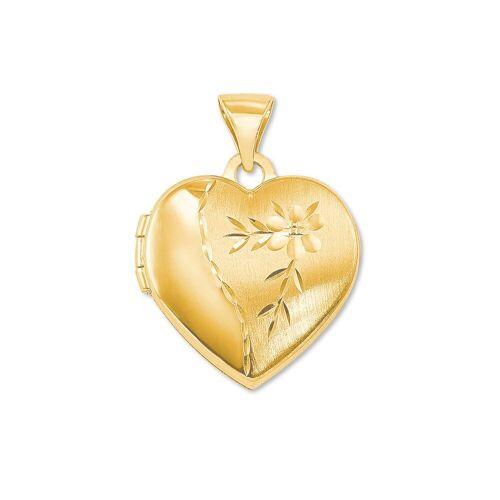 amor amor Anhänger für Damen, Gold 375, Herz