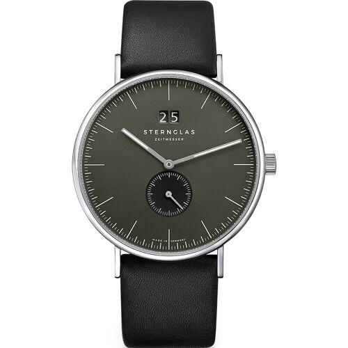 STERNGLAS Sternglas Herren-Uhren Analog Quarz Weiß Weiß Leder 32014064