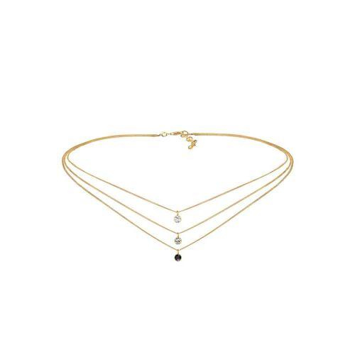 Elli Elli Halskette Choker Swarovski® Kristalle 925 Silber