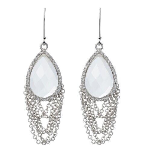 Pippa&Jean Ohrhänger  Metall Bergkristall silber