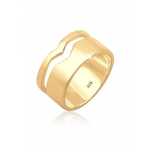 Elli Elli Ring Bandring Geo Cut-Out Basic Trend 925 Silber Figa