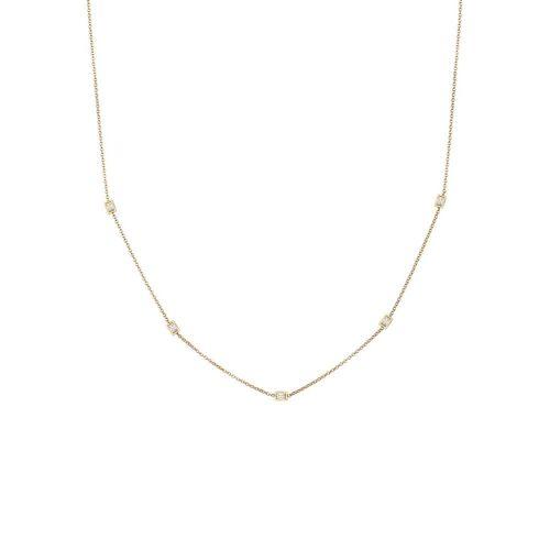 Elli Elli Halskette Basic Rechteckige Zirkonia Kristalle 925 Silber
