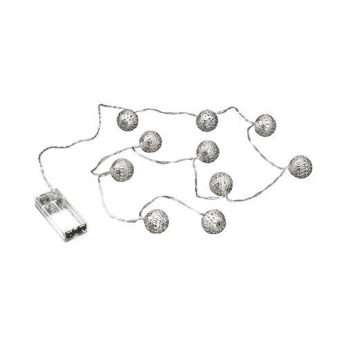 BUTLERS ORIENTAL LIGHTS LED Metallball Lichterkette 10 Lichter