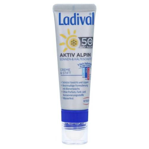 Ladival Ladival Aktiv Alpin Sonnen- und Kälteschutz Kombi Creme & Stift