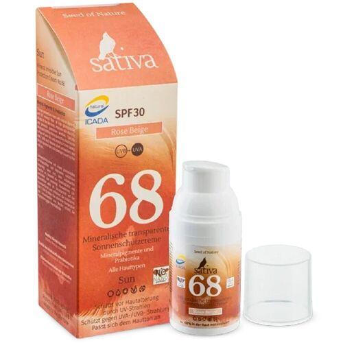 Sativa No. 68 - Mineralische Sonnenschutzcreme - Rose Beige 30ml Damen