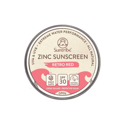 Suntribe Zinksonnencreme  - Retro Red LSF30 45g