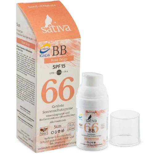 Sativa No. 66 - Getönte Sonnenschutzcreme - Rose Beige 30ml