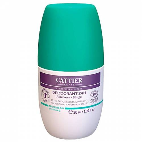 Cattier Deodorant 24H Roll-On Aloe Vera & Salbei Deodorant Roller 50ml