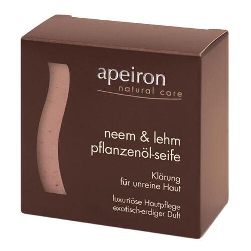 Apeiron Pflanzenöl-Seife - Neem & Lehm 100g