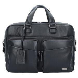 Bric's Bric's Torino Aktentasche Leder 39 cm Laptopfach Laptoptaschen Schwarz   Schwarz