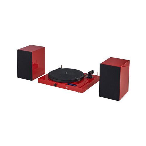 Pro-Ject Juke Box E HiFi Set red