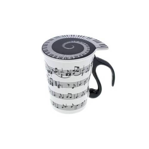 "Musicwear Cup with Lid """"Staff Lines"""""