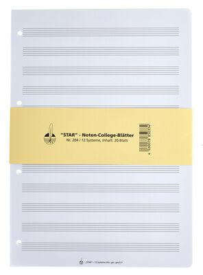 Star Noten-Collegeblätter 204 A4