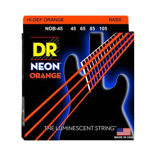 DR Strings NOB-45 Strings Set Neon Orange