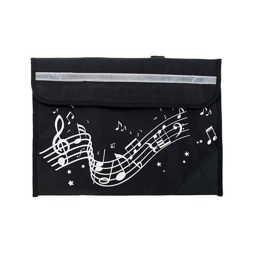 Music Sales Wavy Stave Music Bag (Black)