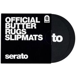 """Serato 7""""""""Butter Rugs Slipmat black Schwarz mit weißem Logo"""
