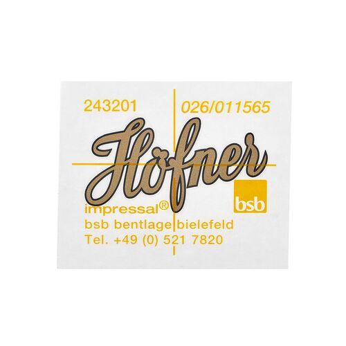 Höfner H65/41B Decal