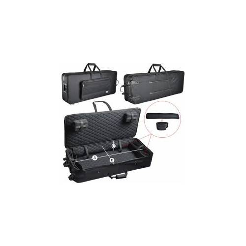 Steinbach leichter Keyboardkoffer mit Rollen (101 x 42 x 15 cm) Keyboard Tasche Keyboardtasche Keyboardkoffer Keyboardetui Keyboardtrolley Pull Case Keyboard Stagepianokoffer Stagepianokoffer SKPCW-39 L  Zubehör Keyboard Keyboard bag Stagepianotrolley