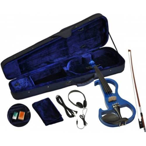 Steinbach E-Geige II in blau 4/4 Set im Koffer
