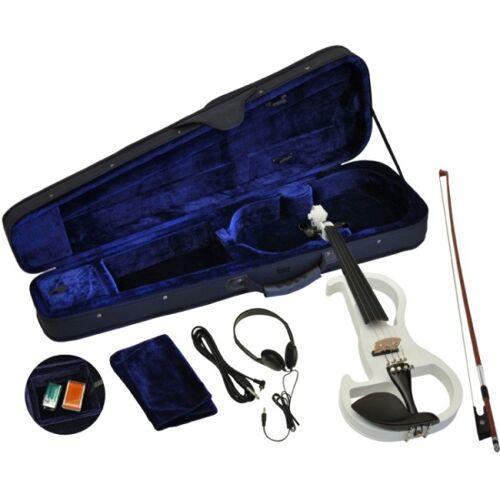 Steinbach E-Geige II in weiss 4/4 Set im Koffer