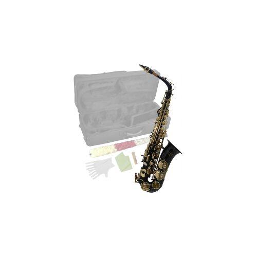 Steinbach Eb Alt-Saxophon in Schwarz mit hohem FIS Steinbach Saxophone Blasinstrument Alt Saxophon Stagg Einsteiger Anfänger Alt