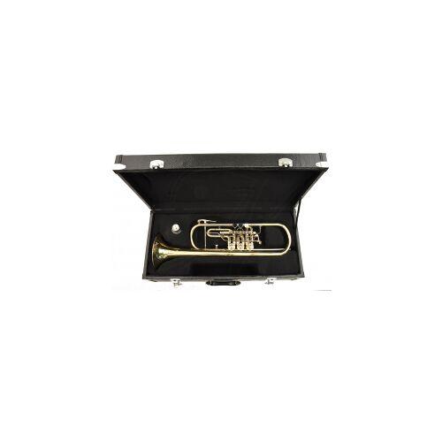 Steinbach Drehventil Trompete in Bb-Stimmung mit Koffer Drehventil Trompete Trompete mit Drehventilen Drehventiltrompete Konzerttrompete