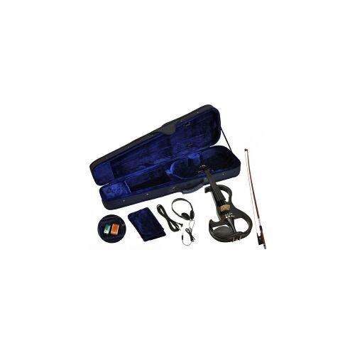 Steinbach E-Geige II in schwarz 4/4 Set im Koffer SEVN-2-44 BK E Geige E-Geige SEVN Elektro-Geige E-Violine Elektronische Geige elektronisches Geigenset Elektro Geige schwarz schwarze E-Geige