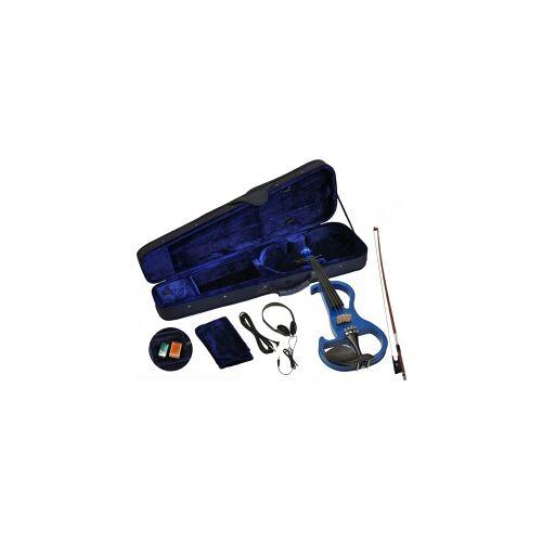 Steinbach E-Geige II in blau 4/4 Set im Koffer SEVN-2-44 BL E Geige E-Geige SEVN Elektro-Geige E-Violine Elektronische Geige elektronisches Geigenset Elektro Geige blau blaue E-Geige