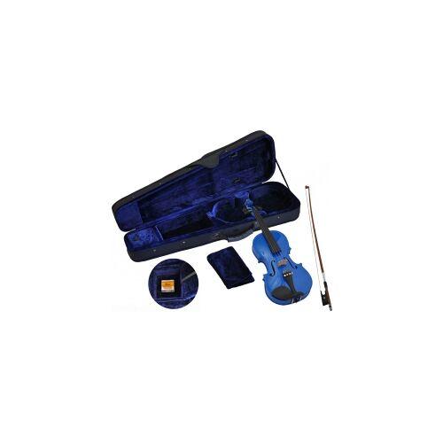 Steinbach 4/4 Geige im SET blau handgearbeitet Steinbach Geige Violine Geigenset blau Violinset Geige im Set